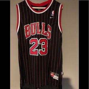 Men's Large Nike Michael Jordan Pin Stripe Jersey